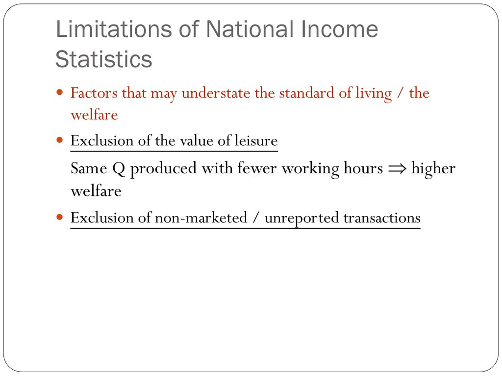 national income statistics