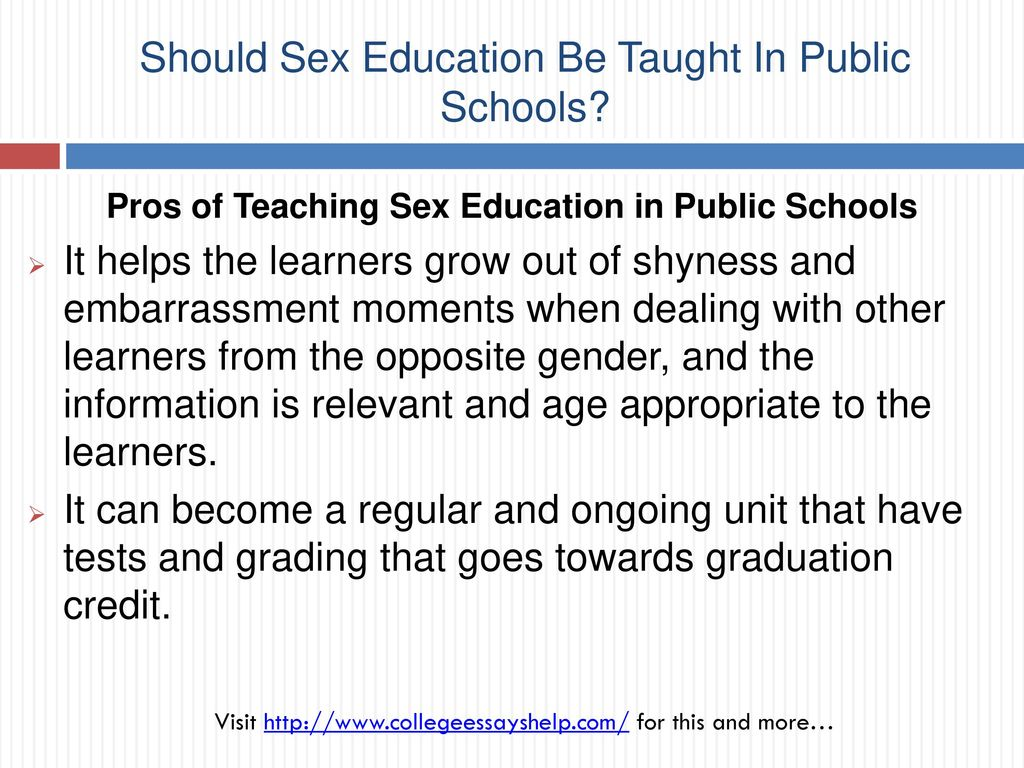 When should sex education be taught