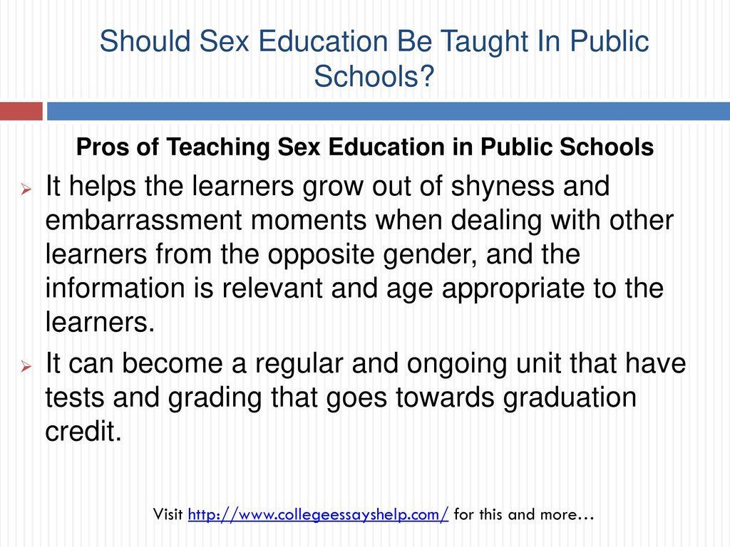 Should sex education be taught in public schools pics 41
