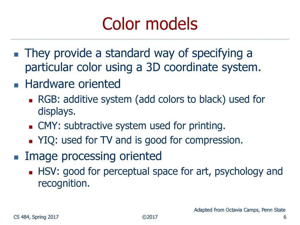 Color Image Processing - ppt download