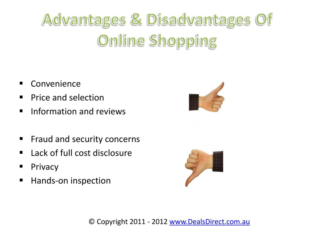Advantages and Disadvantage of Online shopping - ppt download