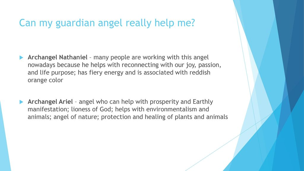 Can my guardian angel really help me? - ppt download