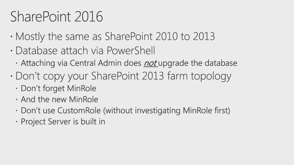 5/26/2018 3:08 AM BRK3251 SharePoint Server 2016 migration