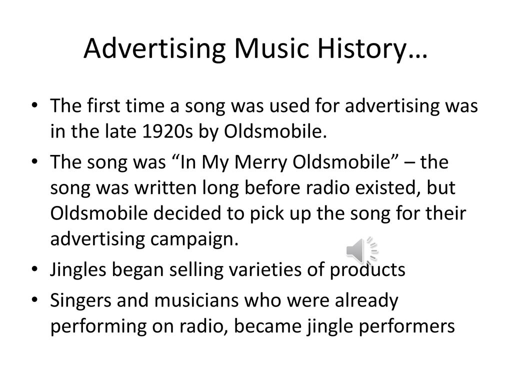Advertising Jingles in America - ppt download