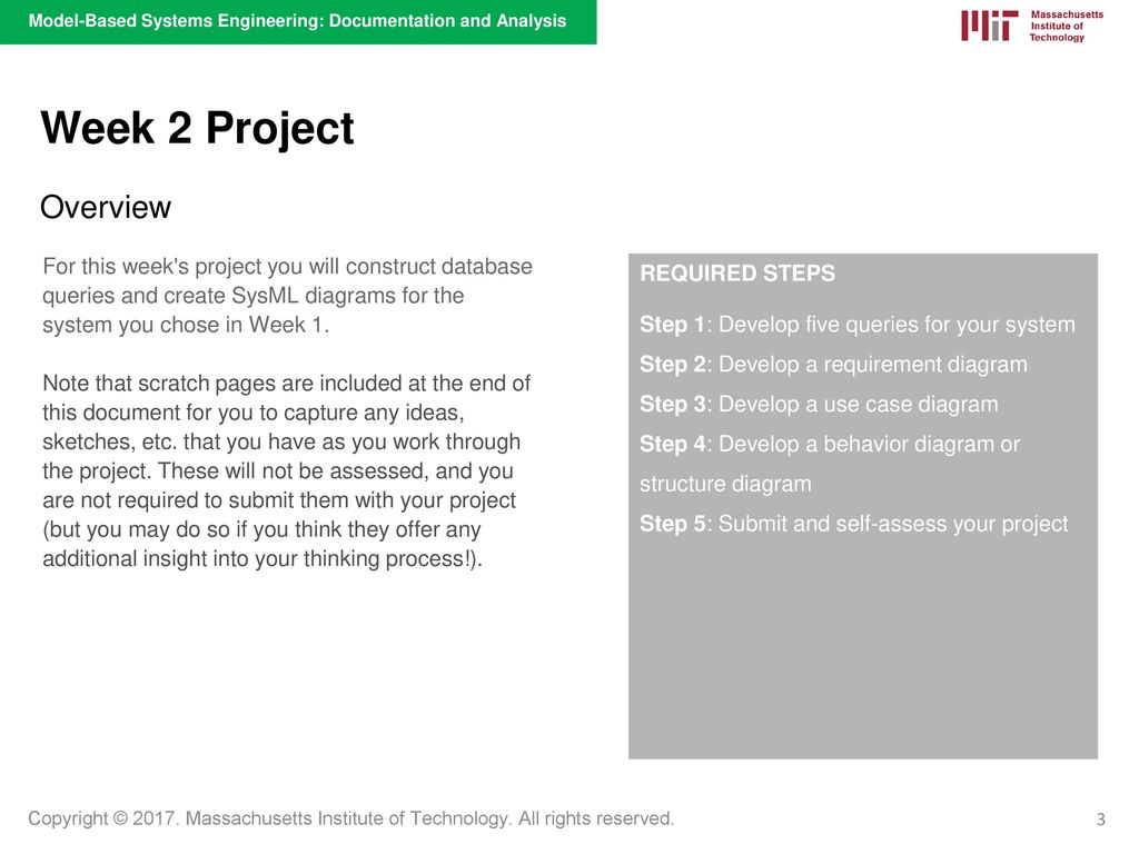 Project Model Based Systems Engineering Documentation And Analysis System Diagrams 3 Week