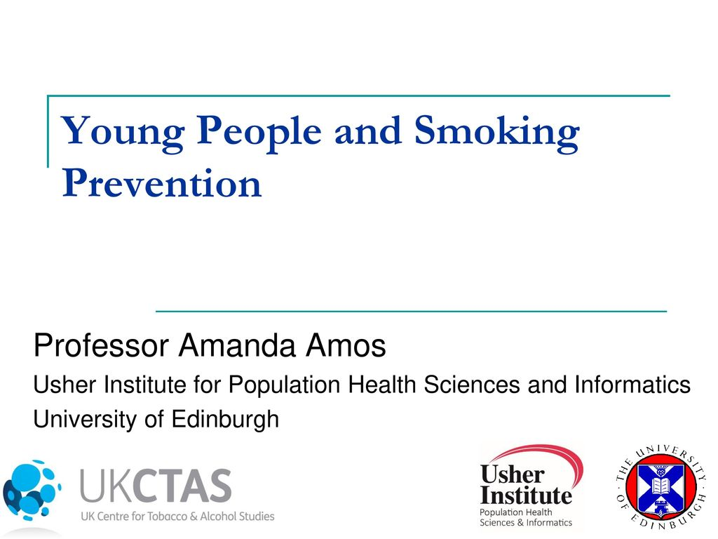 Prevention of smoking among young people