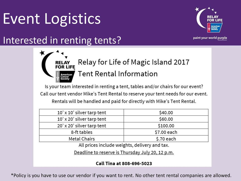 Relay For Life Of Magic Island Ppt Download Electric Tarp 25 Event