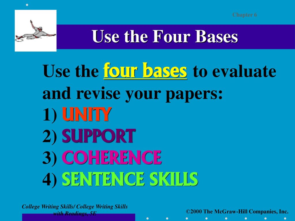 chapter six the four bases for revising essays   ppt download use the four bases to evaluate and revise your papers  unity