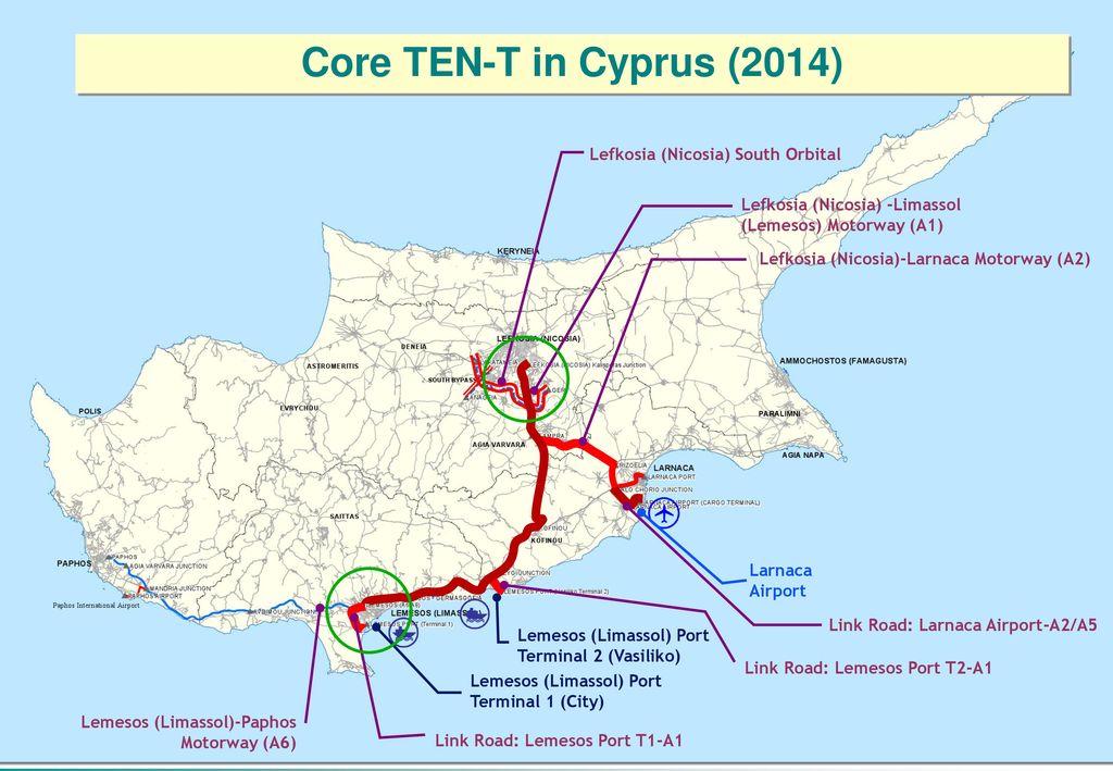 Core TEN-T in Cyprus (2014) Lefkosia (Nicosia) South Orbital b97249639e