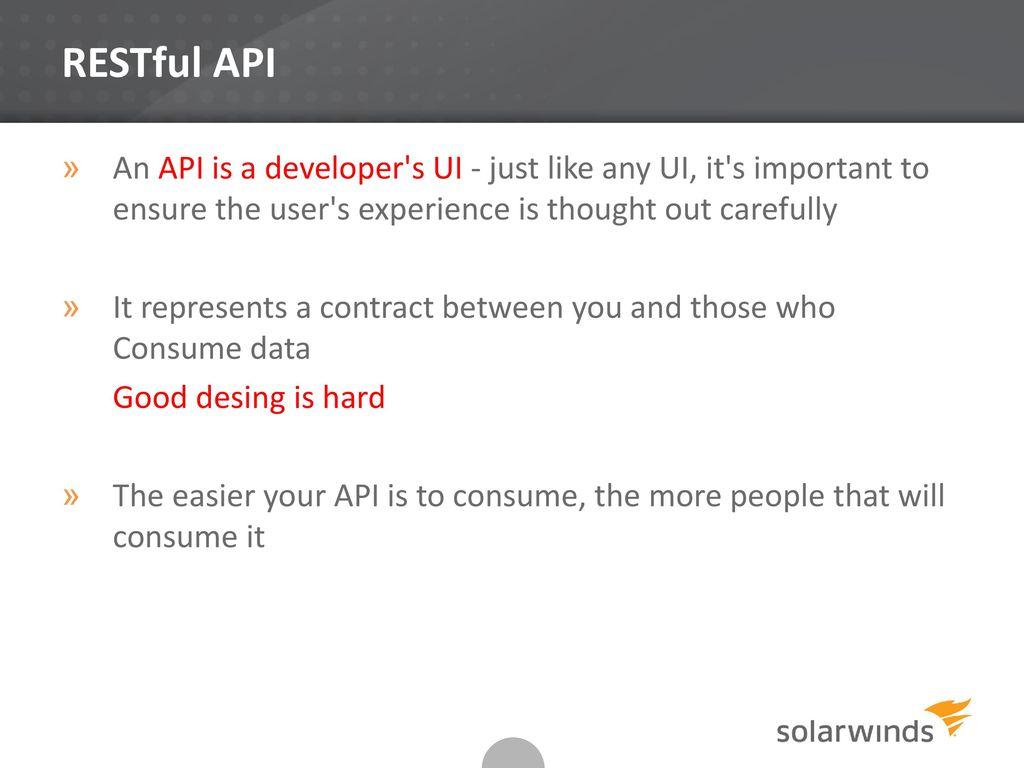 Better RESTFul API – Best Practices - ppt download