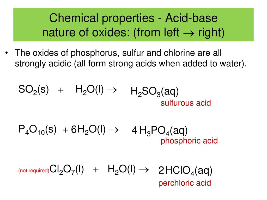 What is the nature of oxides