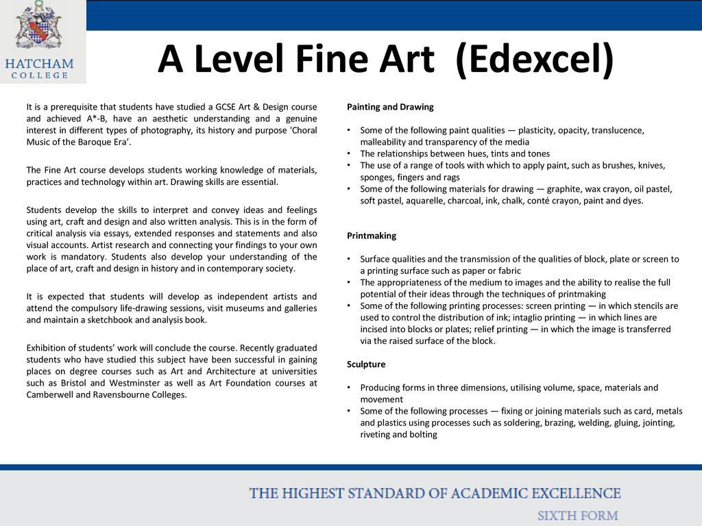 A Level Fine Art Edexcel Ppt Download