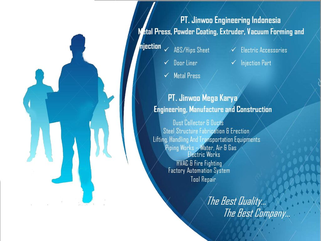 The Best Quality… The Best Company… PT  Jinwoo Engineering Indonesia