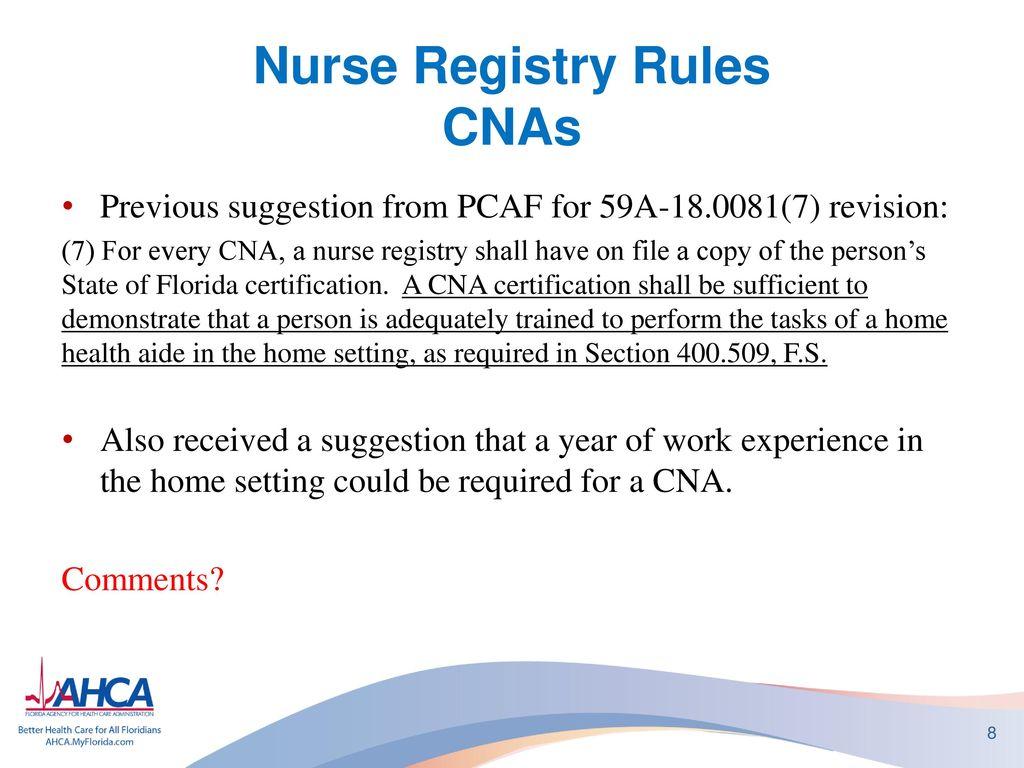 Nurse Registry State Regulatory Update Ppt Download