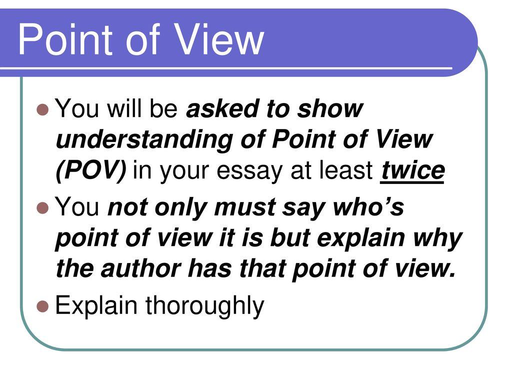 how to show understanding in an essay