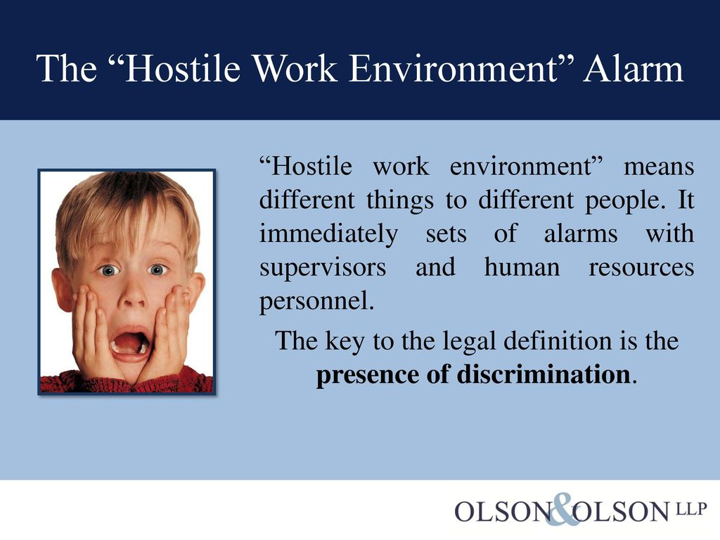 hostile work environment - ppt download