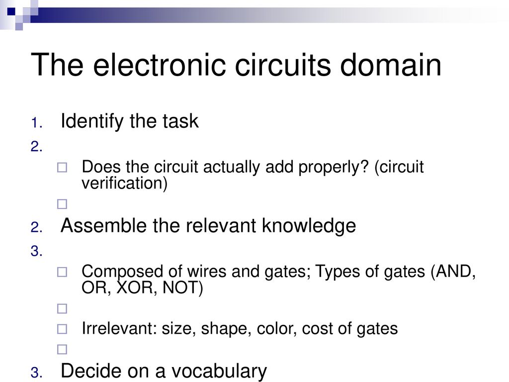 First Order Logic Ppt Download Electronic Circuit Knowledge The Circuits Domain