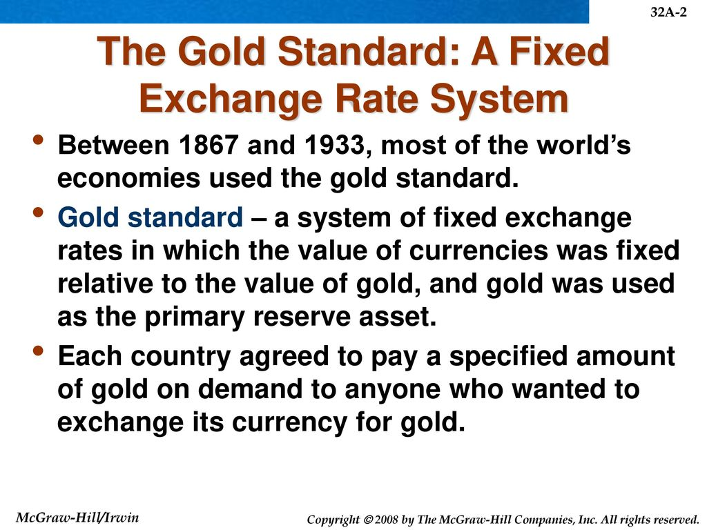 History Of Exchange Rate Systems Ppt