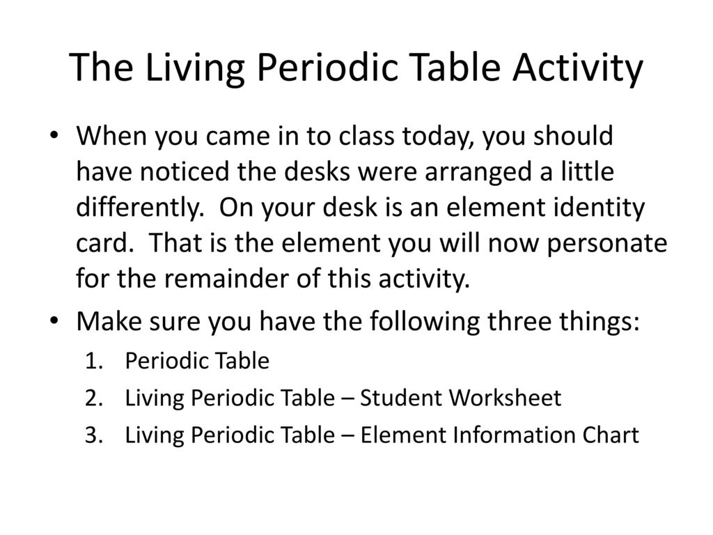 Properties of the periodic table ppt download the living periodic table activity urtaz Choice Image