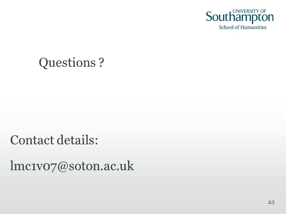 Questions Contact details: