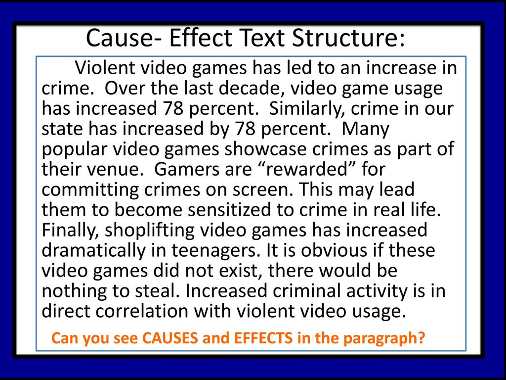 cause and effect video