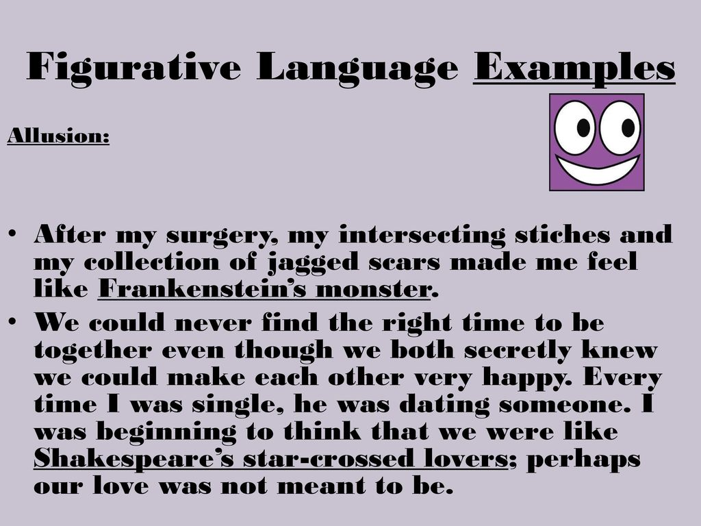 About me for dating sites examples of figurative language