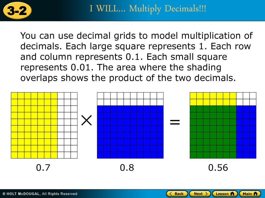 Multiplication Patterns With Decimals Lesson 41 Custom Design