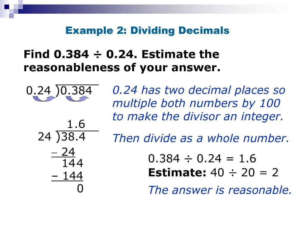 multiplying and dividing decimals - ppt download