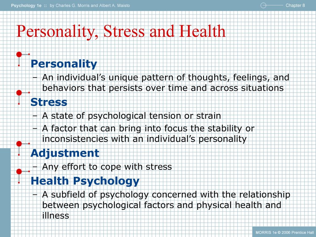 Personality, Stress and Health - ppt download