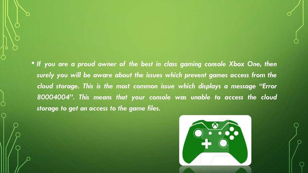 Resolve The Xbox One Issue Which Says Error ? - ppt download