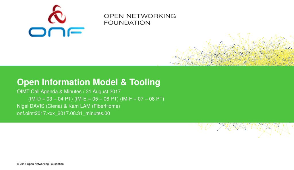 Open Information Model & Tooling - ppt download