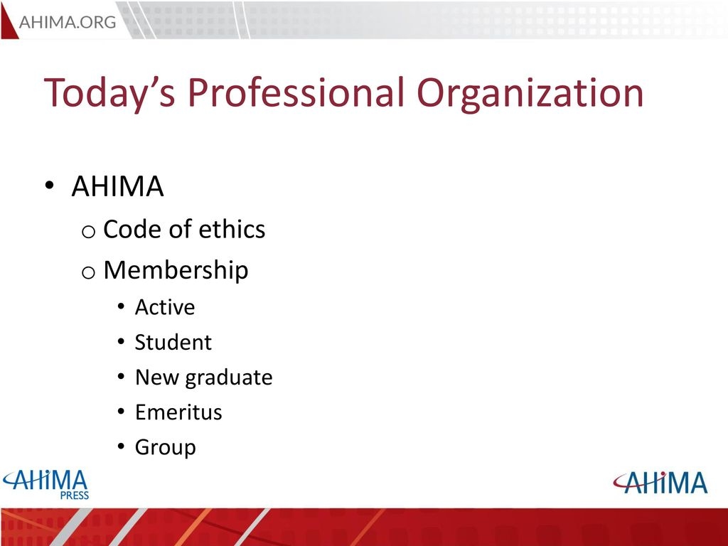 ahima code of ethics 2004