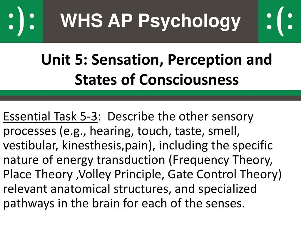 Psychology. Modified states of consciousness
