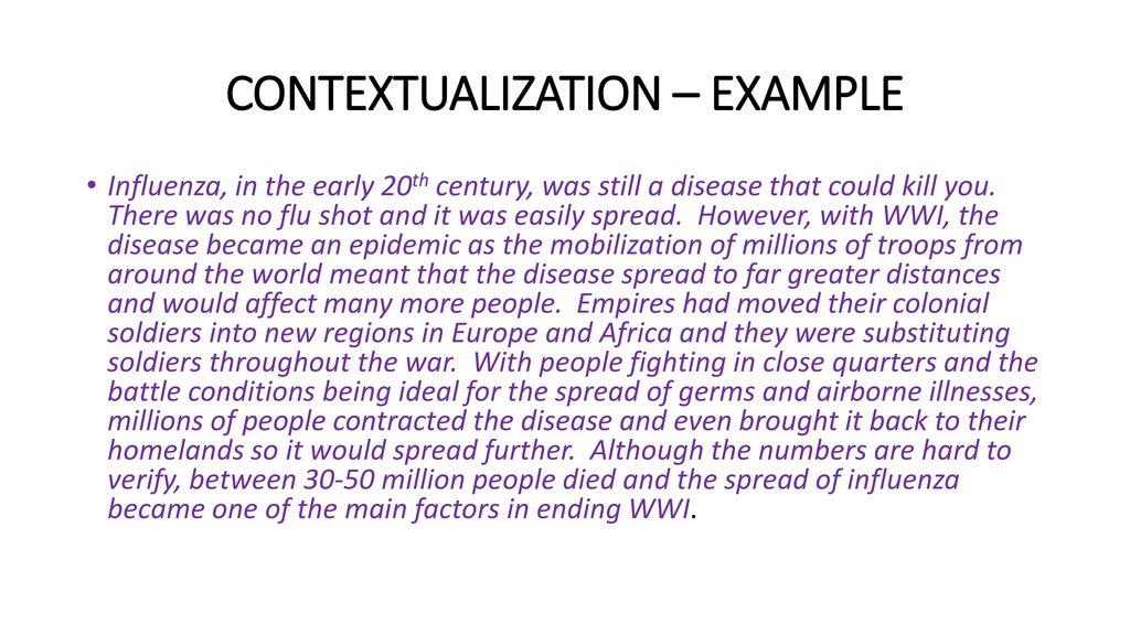 contextualization essay writing