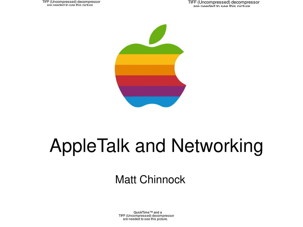 AppleTalk and Networking - ppt...