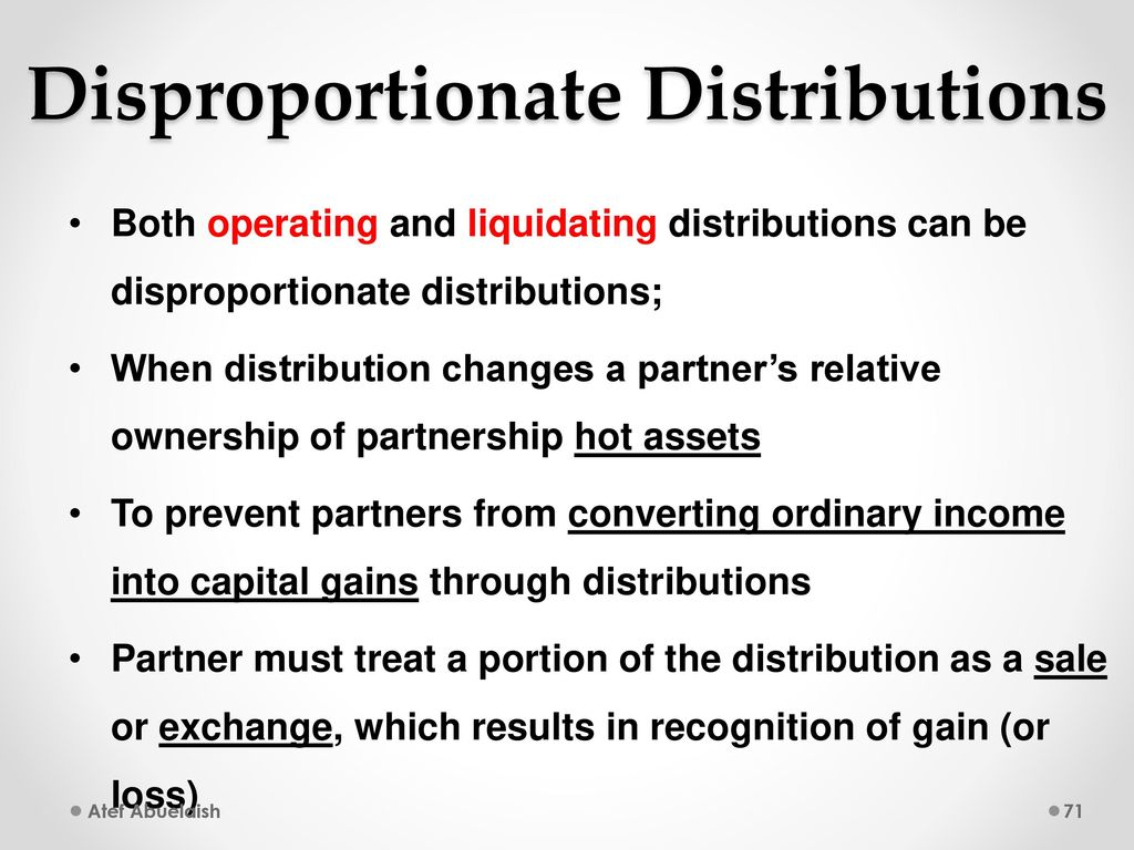 Disproportionate liquidating distributions from trusts