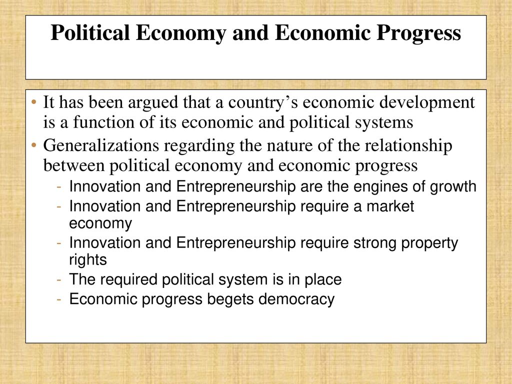what is the relationship between property rights and economic progress