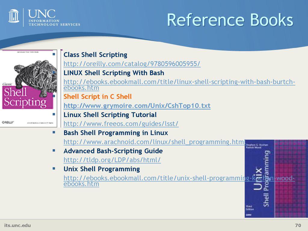 Shell Scripting Shubin Liu, Ph D  Research Computing Center - ppt