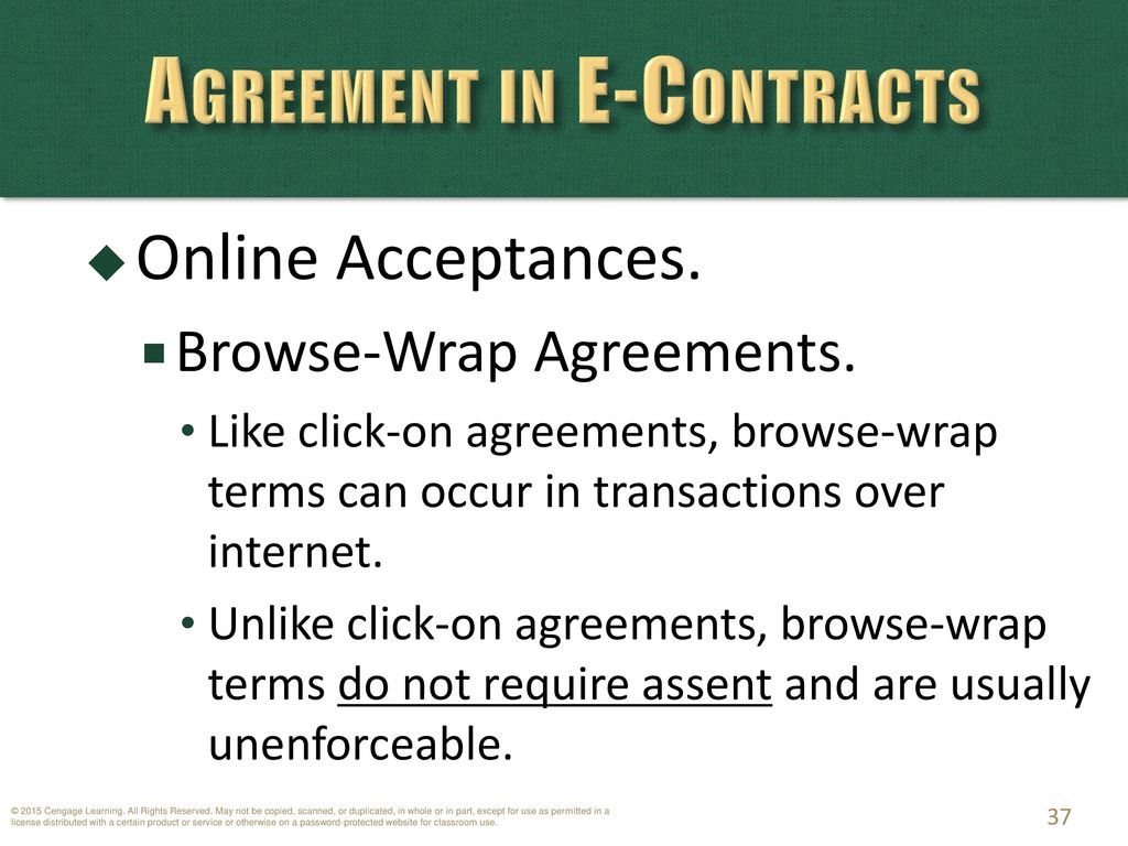 Chapter 12 Contracts Agreement In Traditional And E Contracts