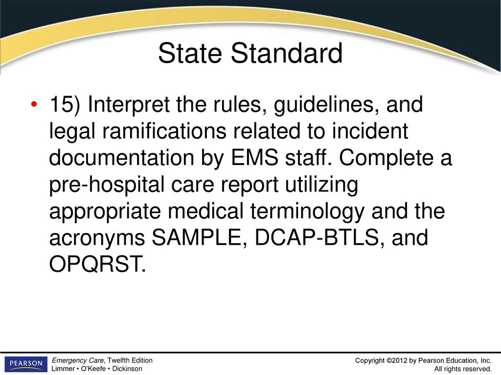 Introduction To Emergency Medical Care 1 Ppt Download