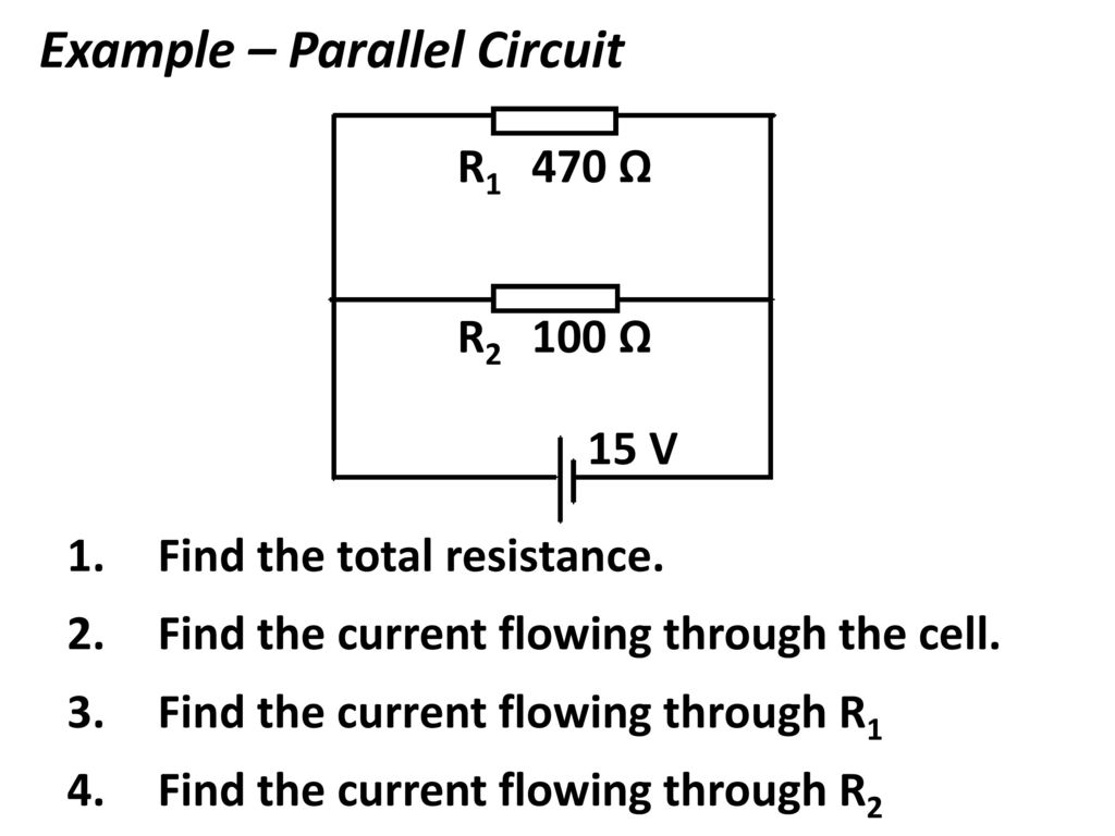 Dc Circuits Ppt Download Simple Parallel Circuit Diagram 17 Example