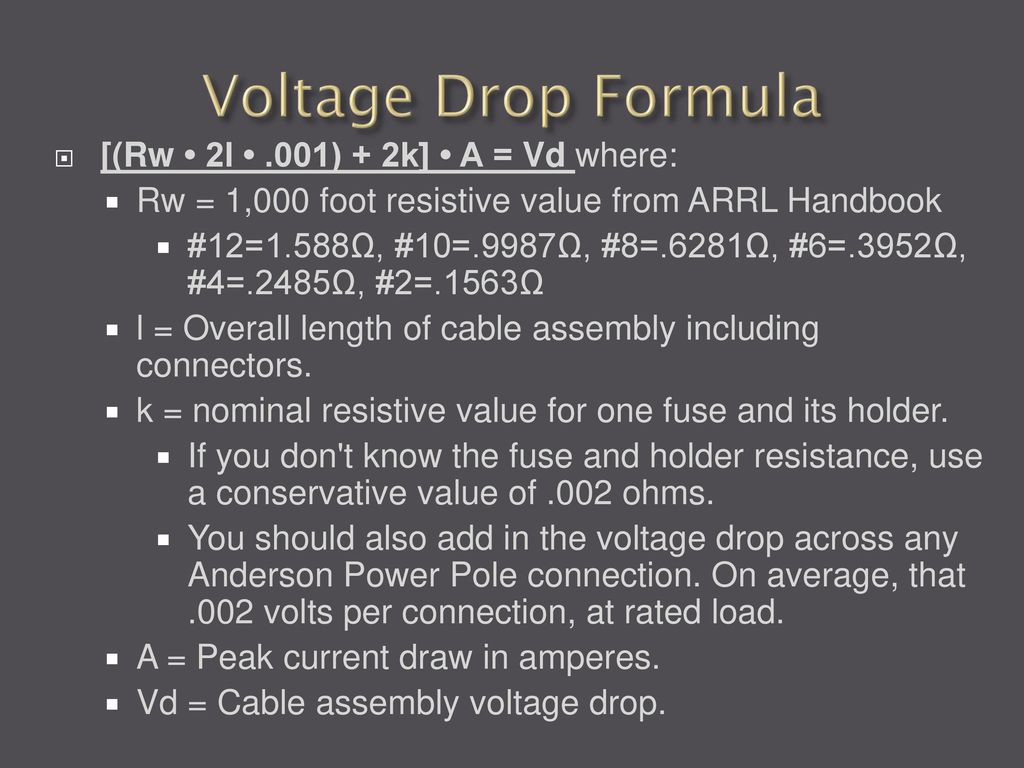12 Volt Wiring And Powerpoles Ppt Download House Voltage Formula 13