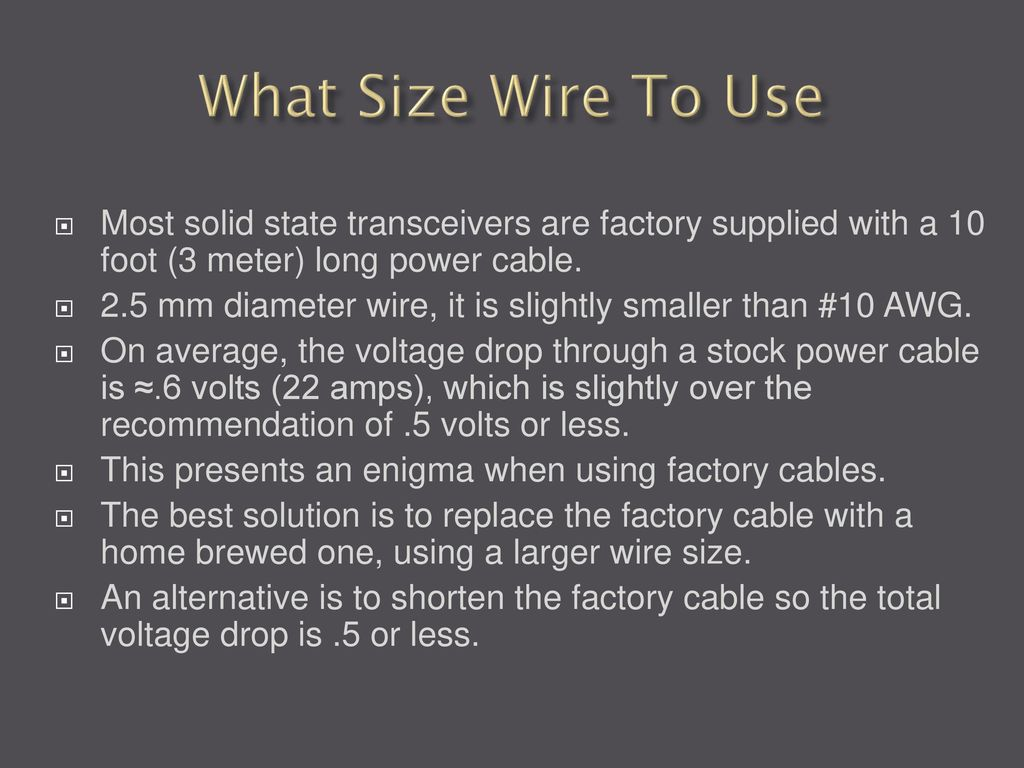 12 Volt wiring and Powerpoles - ppt download