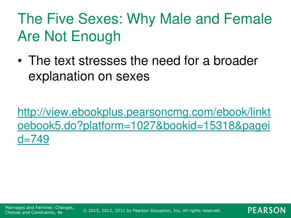 what are the five sexes