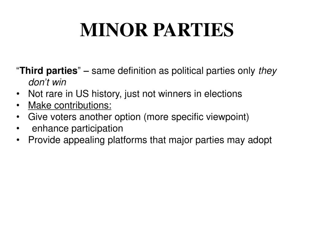 ch. 12 student notes political parties. - ppt download