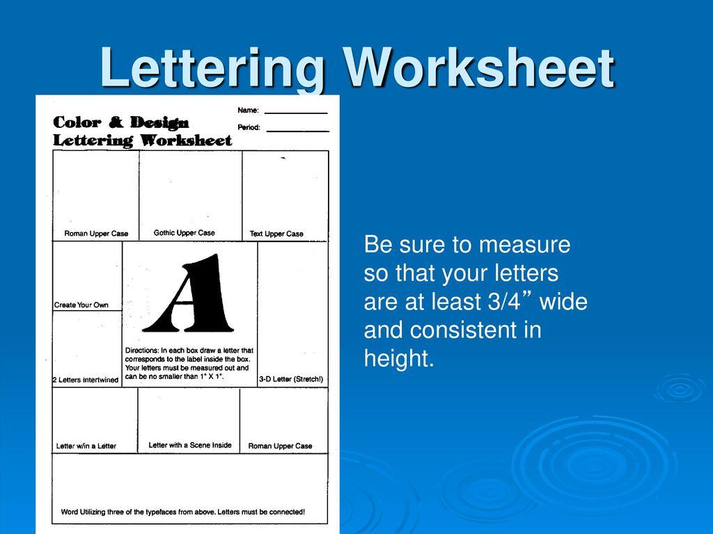 Design/Lettering Unit - ppt download