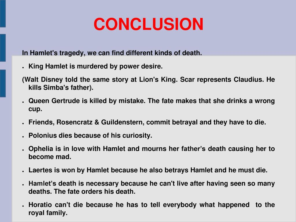 order of deaths in hamlet