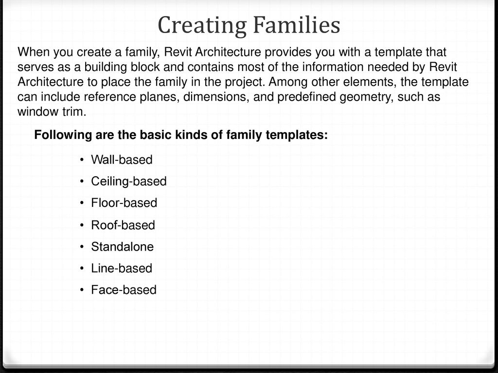 Components and Families - ppt download