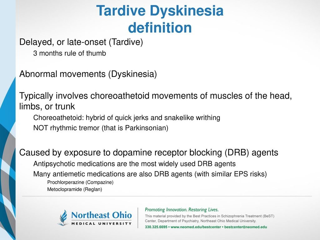 tardive dyskinesia a brief review for clinicians - ppt download