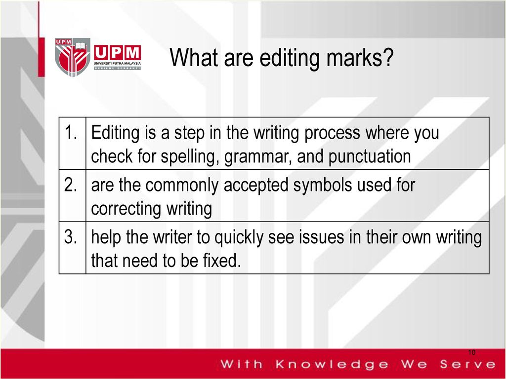 Unit 8 Editing Styles Ppt Download